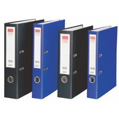 齐心半包胶快劳夹 A105N-蓝 无索引纸 A4 背宽5.5cm容纸量3.5cm(2英寸)D型夹30个/件