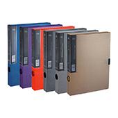 齐心美石档案盒 MC-55-橘红 A4 55mm 18个/件