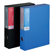 得力PP档案盒 5608-蓝 A4 3.5cm 45个/件