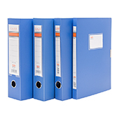 新时达PP档案盒 XD-814-蓝 A4 背宽7.5cm 9个/件