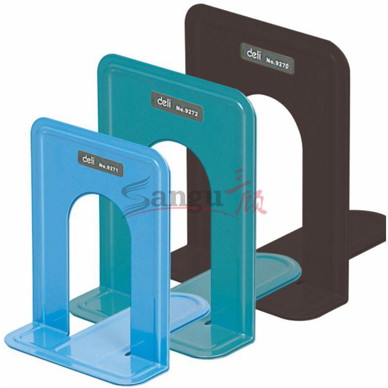 得力铁质书立 9272-蓝 177mm(7寸),20付/盒,40付/件