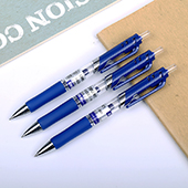 得力按动中性笔 S01,蓝色,0.5mm,12支/盒