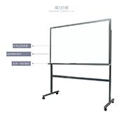 得力H型磁性钢化玻璃带架白板 8738 900*1200cm