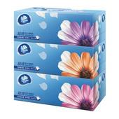 维达盒装抽取式面巾 V2218 190mmX195mm 三层,130抽,3盒/提,12提/件
