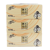 清风原木纯品2层180抽盒装面巾纸 B339A18 2层 206*195mm 3盒/提 12提/件