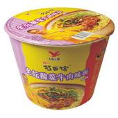 统一方便面(巧-红油酸菜牛肉桶 ) 125g*12