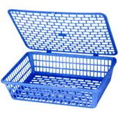 得力公文篮 924-蓝 A4,有盖,40个/件