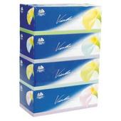 维达蓝色经典盒装抽纸 V2055 190mmX195mm 三层,100抽,4盒/提,10提/件