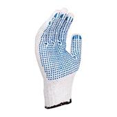 代尔塔PVC点塑棉质手套(经济型) 208006 12双/打 25打/箱 均码